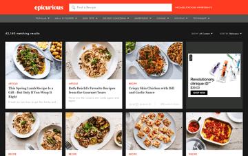 Epicurious.com Web Design