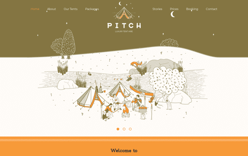 Pitch Luxury Bell Tent Hire Web Design