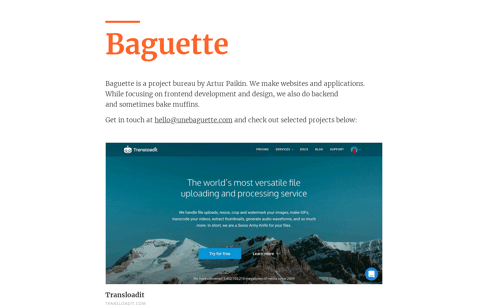 Baguette Web Design