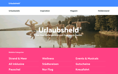 Urlaubsheld Web Design