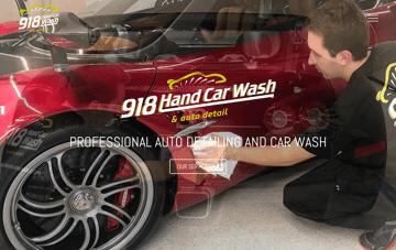 918 Hand Car Wash Web Design