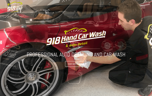 918 Hand Car Wash Web Design