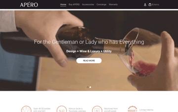 Apérowine wine opener Web Design