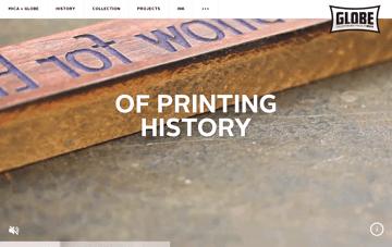 Globe at MICA Web Design