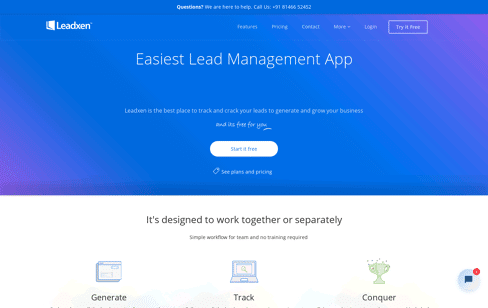 Leadxen Online Lead Management Web Design