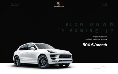 Porsche Macan Web Design