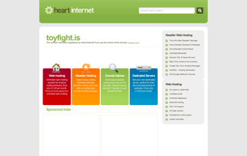 Toy Fight Web Design