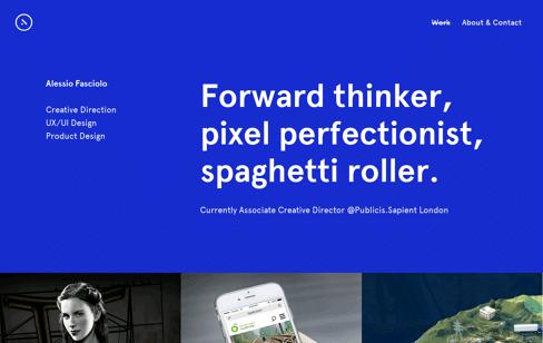 Alessio Fasciolo Portfolio Web Design