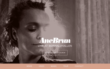 Ane Brun Web Design