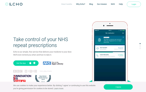 Echo : NHS Medication Management Web Design