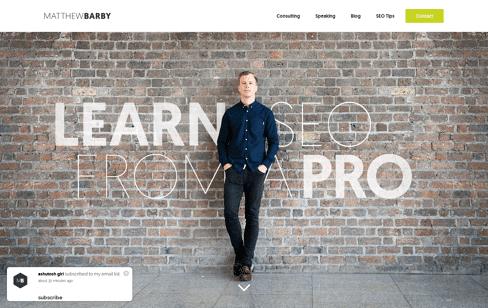 Matthew Barby Web Design