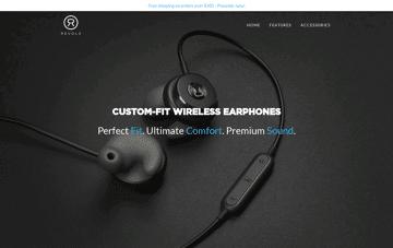 Revols Wireless Earphones Web Design