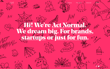 Act Normal Web Design