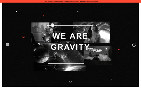 Gravity Creative Space Web Design