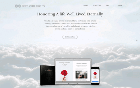 Rest With Dignity Web Design