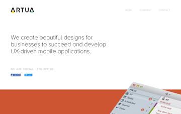 ARTUA Design Agency Web Design