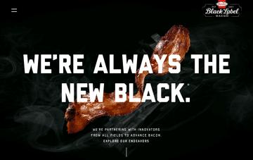 BLACK LABEL® Bacon Web Design