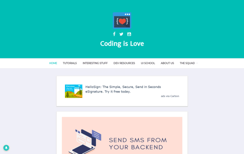 Coding is Love Web Design