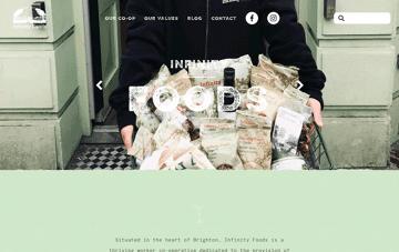 Infinity Foods Web Design