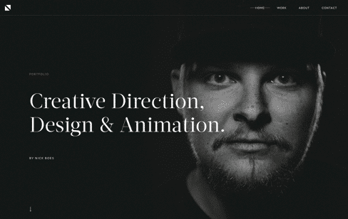 Nick Boes Creative Portfolio Web Design