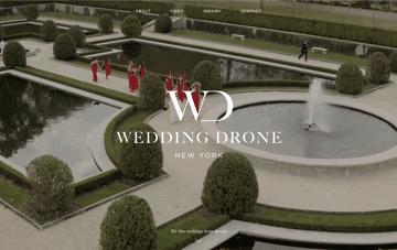 Wedding Drone New York Web Design