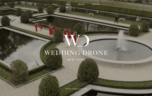 Wedding Drone New York Web Design