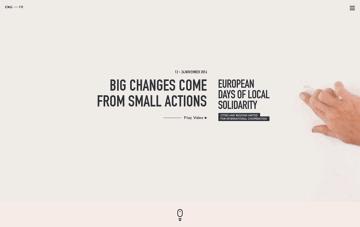 European days of local solidarity Web Design