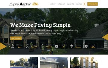Alpine Asphalt Web Design