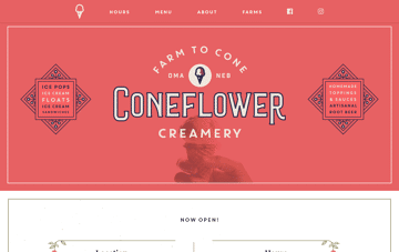 Coneflower Creamery Web Design