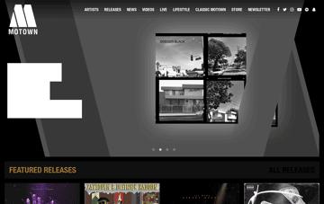 Motown Records Web Design