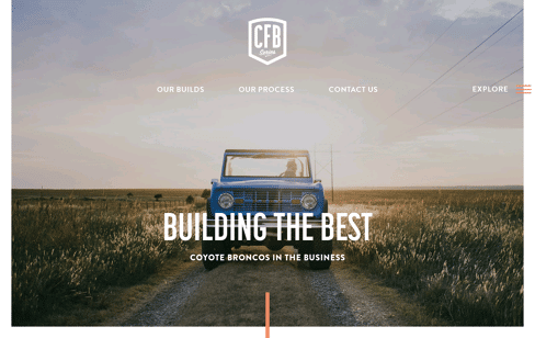 Classic Ford Broncos Web Design