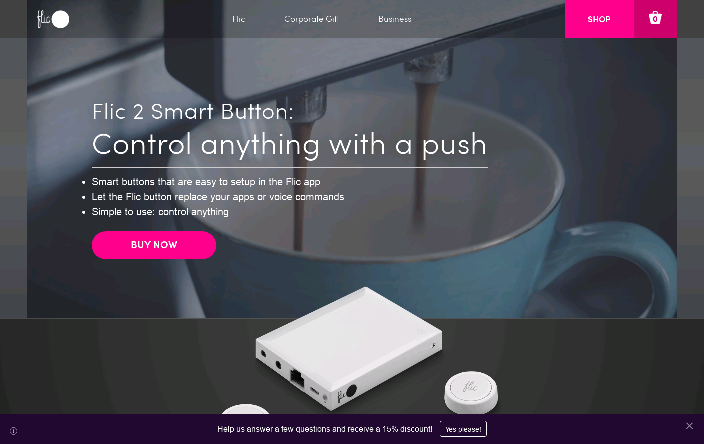Flic - Smart Bluetooth Button - Pure simplicity at the click of a button.