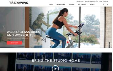 Spinner® Bikes Web Design