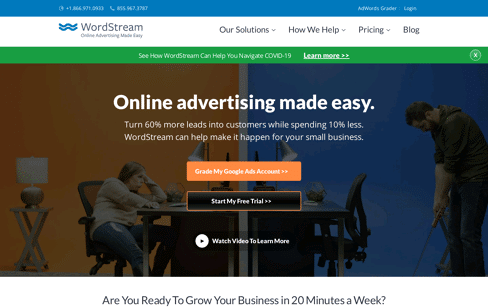 WordStream: Online Advertising Made Easy Web Design