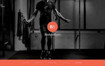 BodyToBurn Web Design