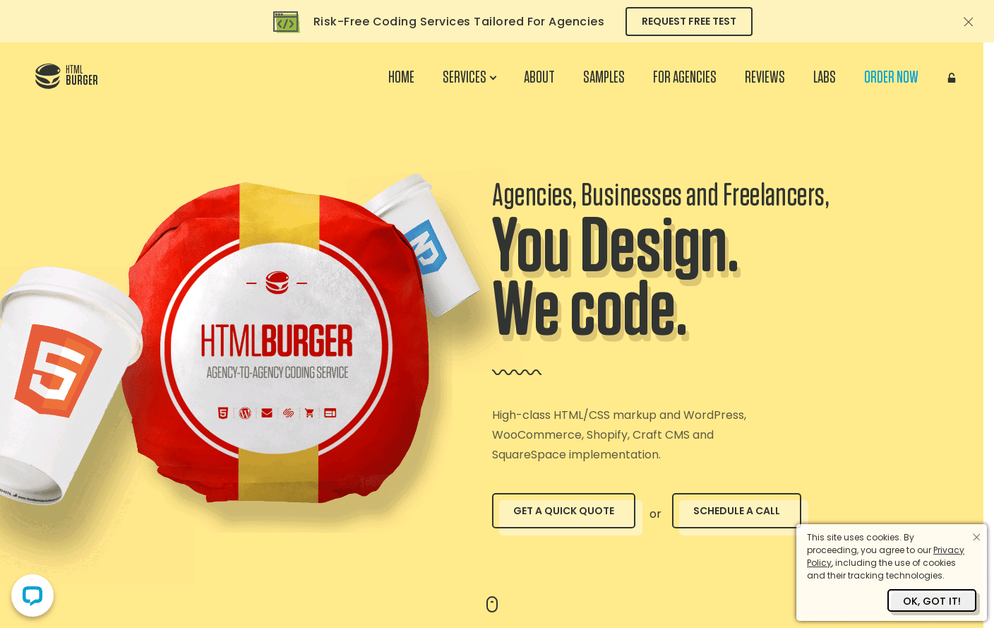 We Convert your Design into Pixel Perfect HTML/CSS - htmlBurger ®