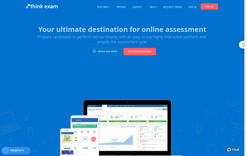 Think Exam Online Exam Software Web Design