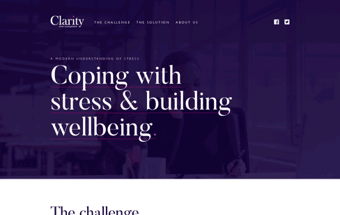 Clarity Stress Management Web Design