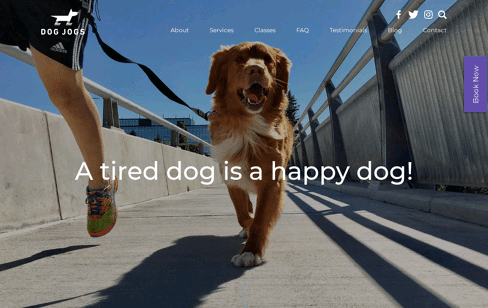 DOG JOGS Web Design