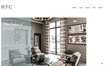 HFC Interiors Web Design