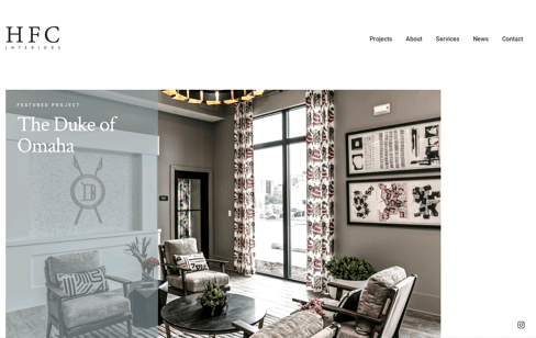 HFC Interiors Web Design