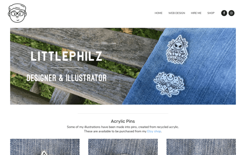 Philz Designer & Illustrator Web Design