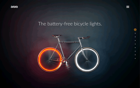 Arara Bicycle light Web Design