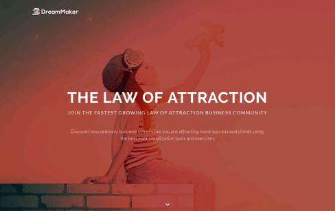 The Law of Attraction Web Design