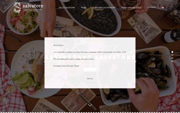 Salvatore Restaurant Web Design