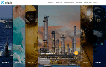 Molecular Products Web Design