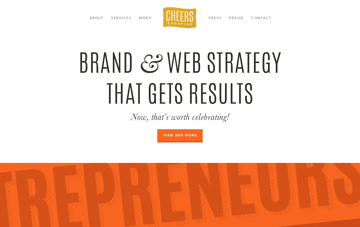 Cheers Creative Brand & Web Strategy Web Design