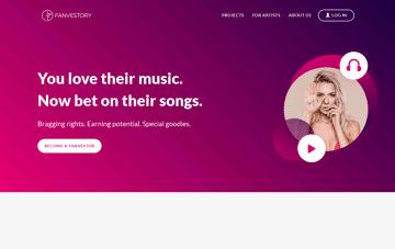 Fanvestory Web Design