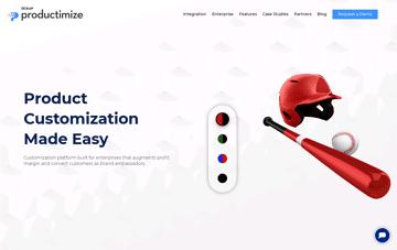 Productimize: 3D Product Configurator   Product Customization Software Web Design
