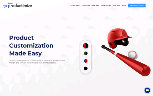 Productimize: 3D Product Configurator | Product Customization Software Web Design